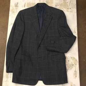 Canali cashmere wool windowpane sport coat ⭐️